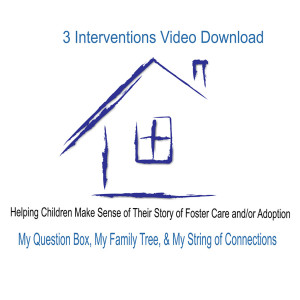 illustration of a simple house with text 3 Interventions My Story