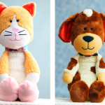photo of side-by-side Dog and Cat Plush Toys and Adopt-Me Collars