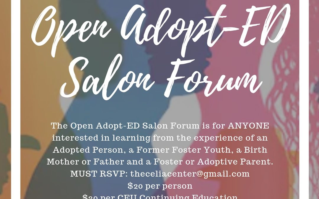 Open Adopt-ED Salon Forum – Open to the Public – Educating 1 person at a time! November